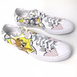 Tom & Jerry Low Top Converse Size 11